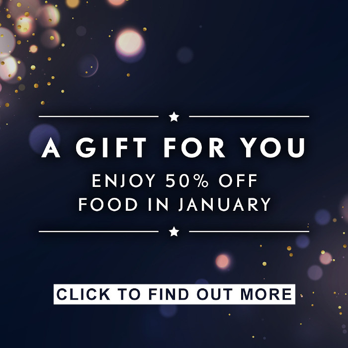 50% off food in january